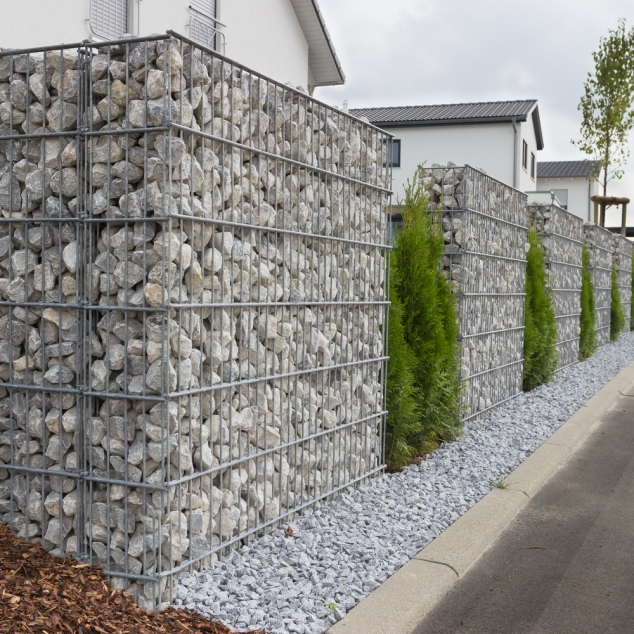 Gabion cl ture de pierres aciers grosjean for Habillage cloture beton